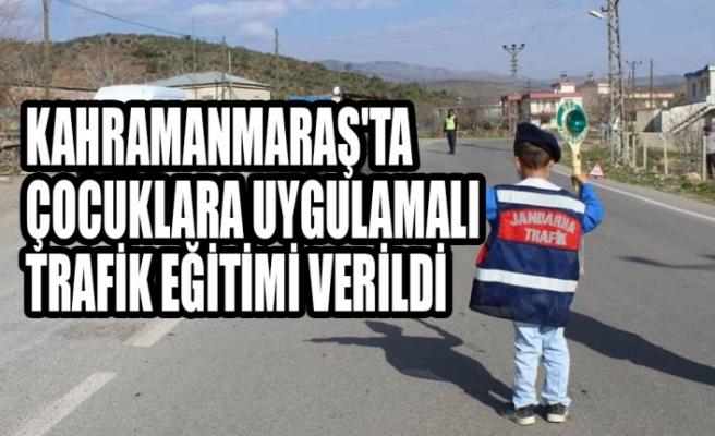 Kahramanmaraş'ta Çocuklara Uygulamalı Trafik Eğitimi Verildi