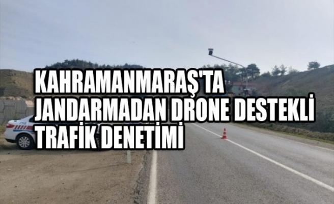 Kahramanmaraş'ta Jandarmadan Drone Destekli Trafik Denetimi