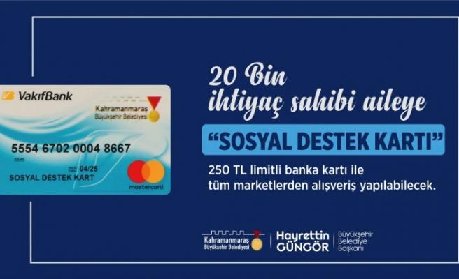Kahramanmaraş'ta 20 Bin İhtiyaç Sahibi Aileye Sosyal Destek Kartı