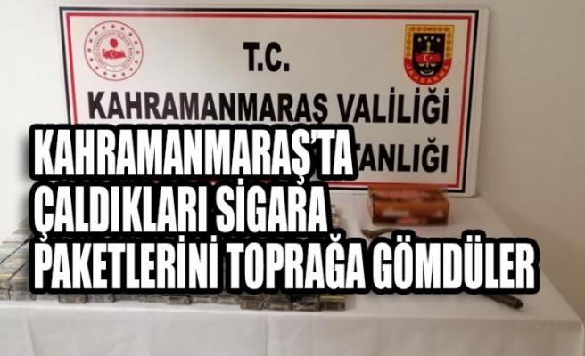 Kahramanmaraş'ta  Çaldıkları Sigara Paketlerini Toprağa Gömdüler