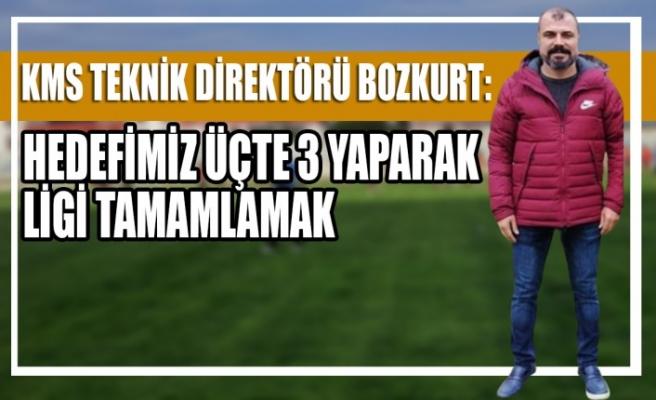 KMS Teknik Direktörü Bozkurt Hedefimiz Üçte 3 Yaparak Ligi Tamamlamak