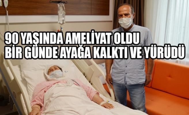 90 Yaşında Ameliyat Oldu, Bir Günde Ayağa Kalktı ve Yürüdü