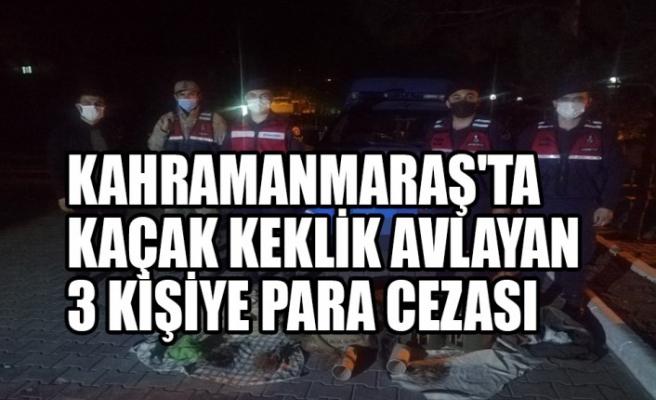 Kahramanmaraş'ta Kaçak Keklik Avlayan 3 Kişiye Para Cezası