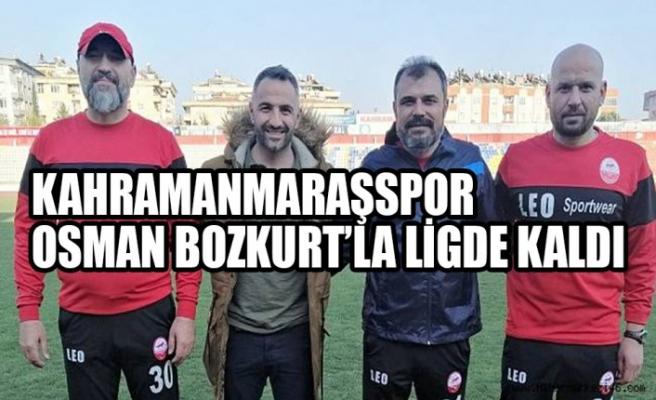 Kahramanmaraşspor Osman Bozkurt'la Ligde Kaldı