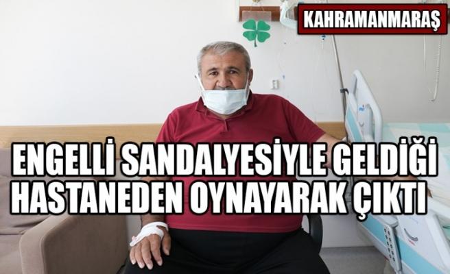 Kahramanmaraş'ta Engelli Sandalyesiyle Geldiği Hastaneden Oynayarak Çıktı