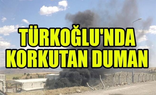 Türkoğlu'nda Korkutan Duman