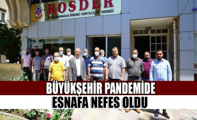 Büyükşehir Pandemide Esnafa Nefes Oldu