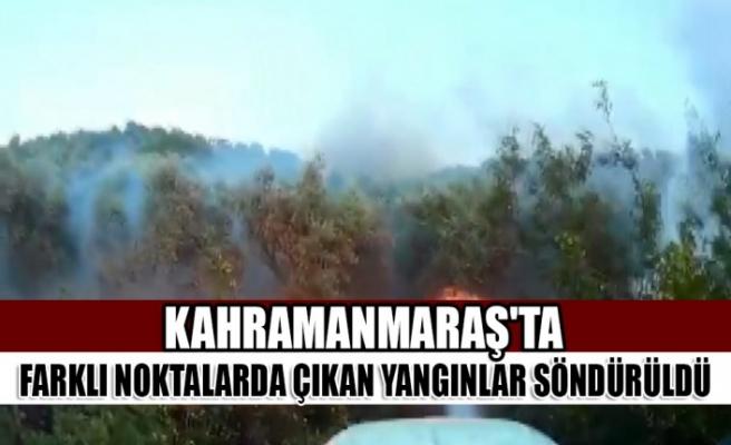 Kahramanmaraş'ta Farklı Noktalarda Çıkan Yangınlar Söndürüldü