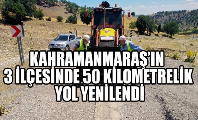 Kahramanmaraş'ın 3 İlçesinde 50 Kilometrelik Yol Yenilendi