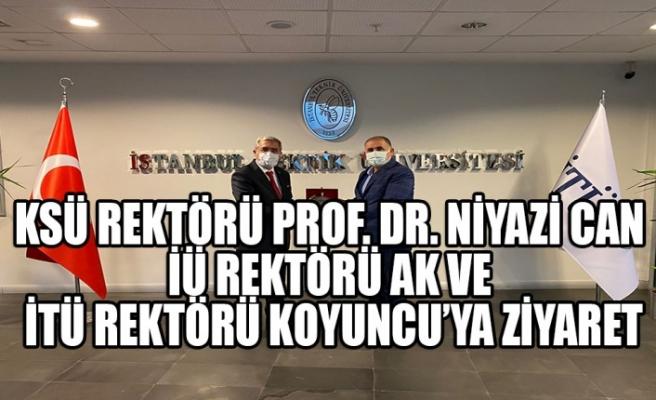 KSÜ Rektörü Can'dan İÜ Rektörü Ak ve İTÜ Rektörü Koyuncu'ya Ziyaret