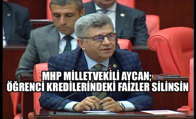 MHP Milletvekili Aycan; Öğrenci Kredilerindeki Faizler Silinsin