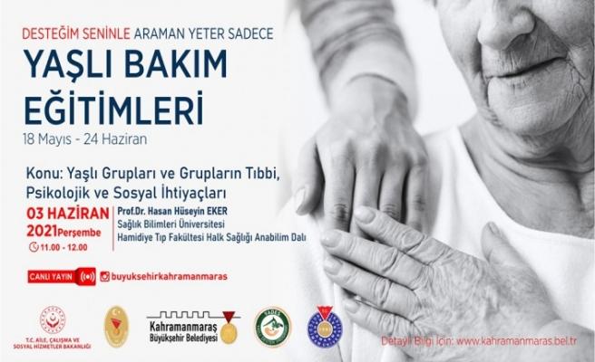 Prof. Eker'le 'Yaşlıların Tıbbi, Psikolojik ve Sosyal İhtiyaçları'