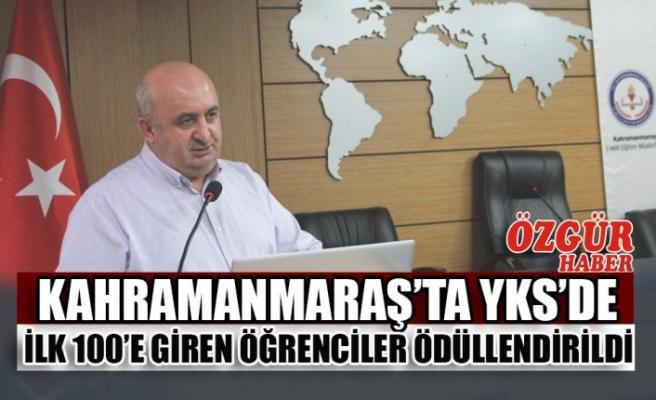 Kahramanmaraş'ta YKS'de İlk 100'e Giren Öğrenciler Ödüllendirildi