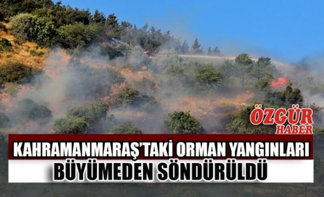Kahramanmaraş'taki Orman Yangınları Büyümeden Söndürüldü