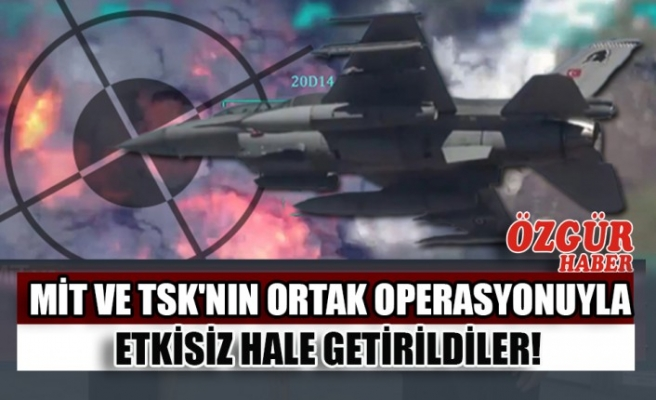 MİT ve TSK'nın Ortak Operasyonuyla Etkisiz Hale Getirildiler!