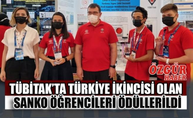 TÜBİTAK'ta Türkiye İkincisi Olan SANKO Öğrencileri Ödüllerildi