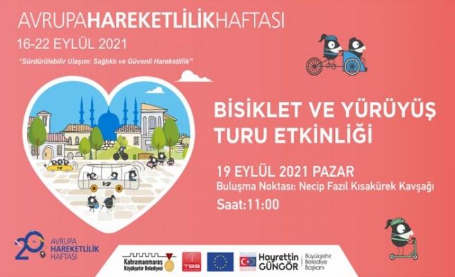 Avrupa Hareketlilik Haftası'nda Yürüyüş ve Bisiklet Turu Etkinliği