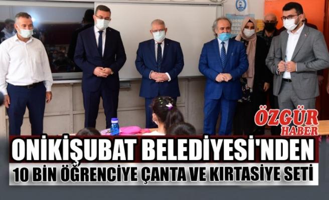 Onikişubat Belediyesi'nden 10 Bin Öğrenciye Çanta ve Kırtasiye Seti