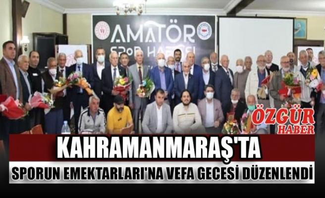 Kahramanmaraş'ta Sporun Emektarları'na Vefa Gecesi Düzenlendi