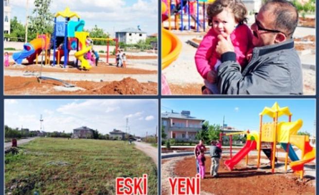 Afşin Belediyesi Alpaslan Mahallesi  Yeşil Alan ve Park Çalışmaları Tamamlanıyor