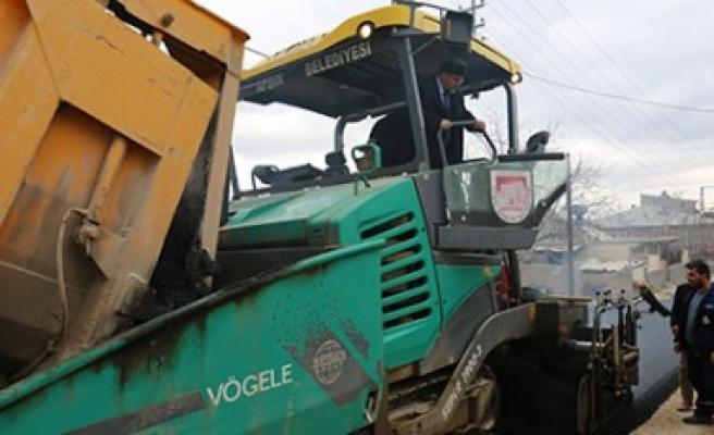 Afşin Belediyesi, Asfalt Çalışmalarını Sürdürüyor