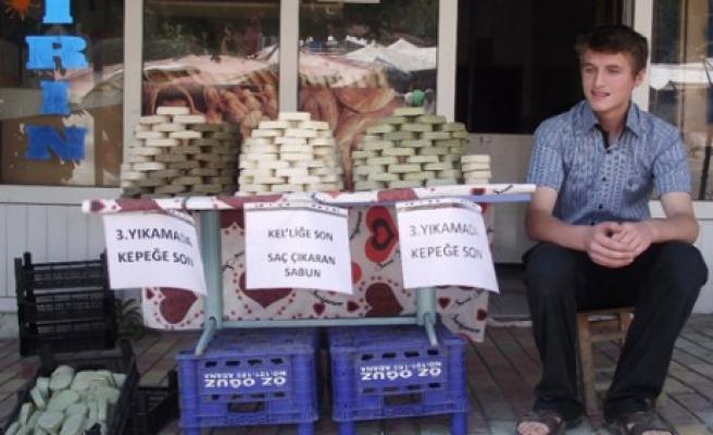 Andırın'da Defne Sabunu Üretildi