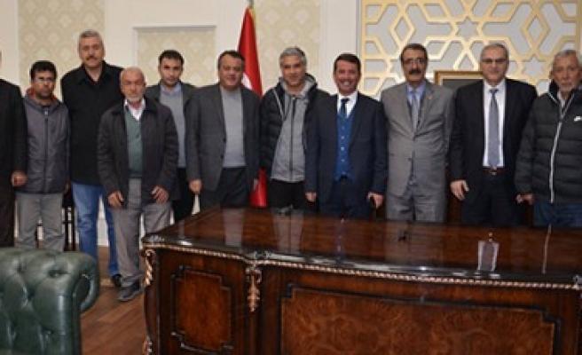 ASKF Başkanı Önal ve Üyelerinden Başkan Okumuş'a Teşekkür Ziyareti