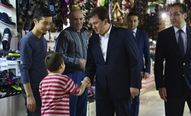 Başkan Erkoç Ayakkabıcılar Çarşısında