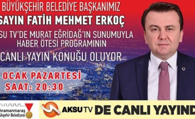 Başkan Erkoç, Canlı Yayına Katılacak