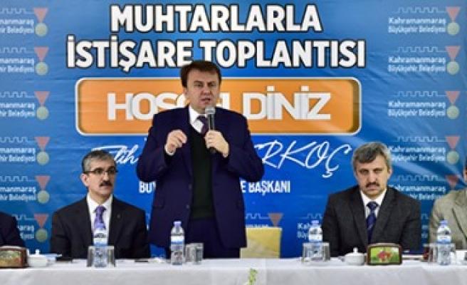 Başkan Erkoç, Dulkadiroğlu Muhtarlarıyla Biraraya Geldi