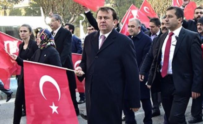 Başkan Erkoç, Kahraman Hemşehrilerini Teröre Karşı Omuz Omuza Olmaya Çağırdı