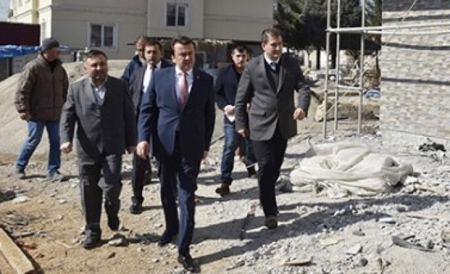 Başkan Erkoç, Karaziyaret Taziye Evinde