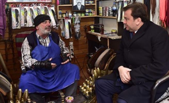 Başkan Erkoç Suk-i Maraş Çarşısında
