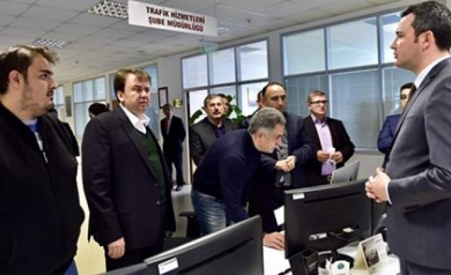 Başkan Erkoç Trafik Yönetim Merkezinde