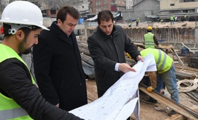 Başkan Erkoç'tan Otopark İnşaatında İnceleme