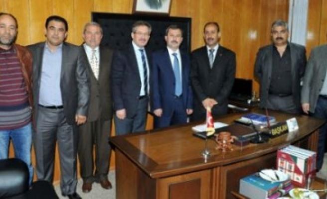 Başkan Poyraz'dan Toplu Taşıma Derneklerine Ziyaret
