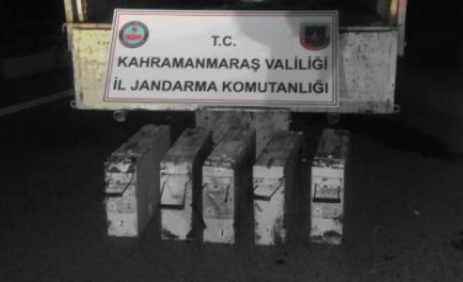 Baz İstasyonunun Aküsünü Çaldı, Jandarma Tarafından Yakalandı