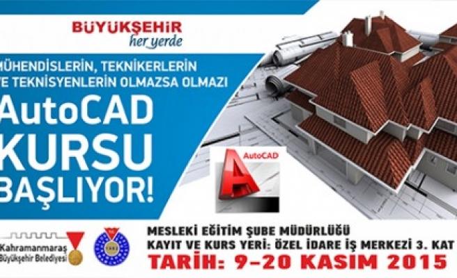 Büyükşehir'den Autocad Kursu