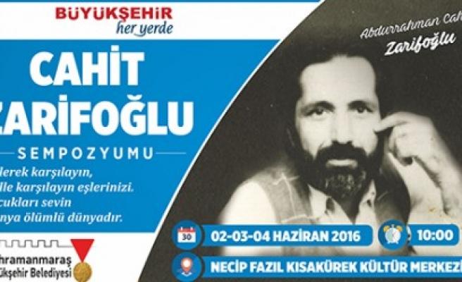 Büyükşehir'den Cahit Zarifoğlu Sempozyumu
