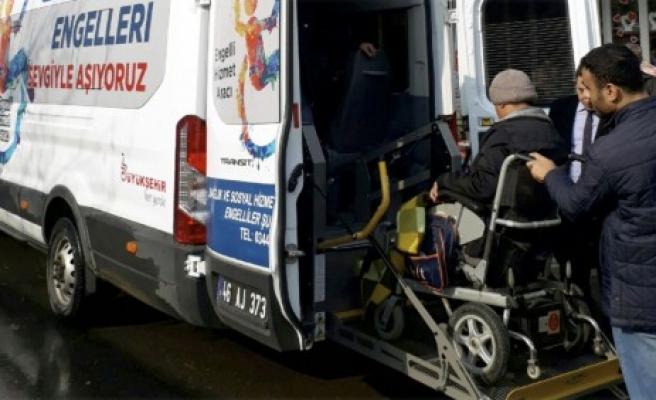 Büyükşehir'den Engelli Hasta Taşıma Aracı
