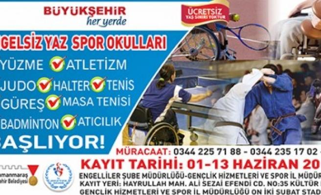 Büyükşehir'den Engelsiz Yaz Spor Okulu Ve Kursları