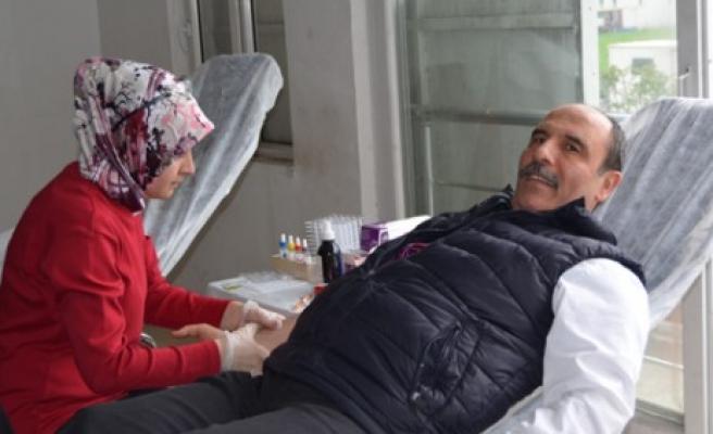 Çabasan'dan Kan Bağışı