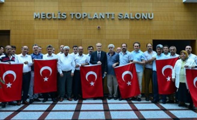Dulkadiroğlu Meclisi'nden 15 Temmuz Şehit Ve Gazileri İçin Anlamlı Destek