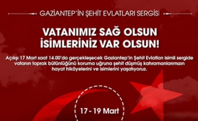 Gaziantep'in Şehit Evlatları Sergisi Sanko Park'ta