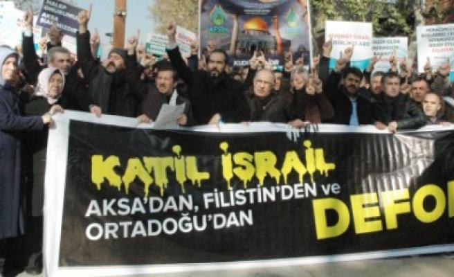 Kahramanmaraş'ta Kudüs Protestosu