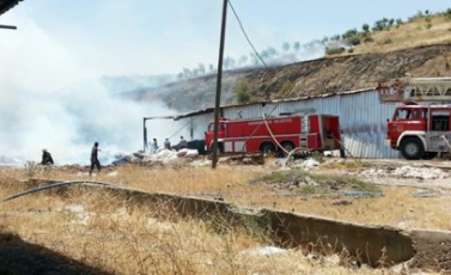 Karacasu'daki İmalathanede Yangın