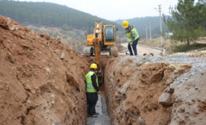 Kuzey Çevre Yolunda Altyapı Çalışmaları Sürüyor
