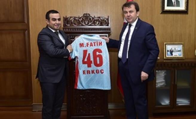 Maraş Gücü Spor'dan Başkan Erkoç'a Ziyaret