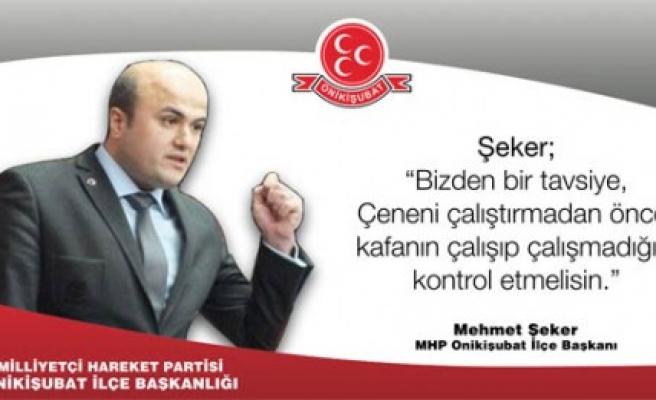 MHP'li Şeker'den AK Partili Özdemir'e Jet Yanıt