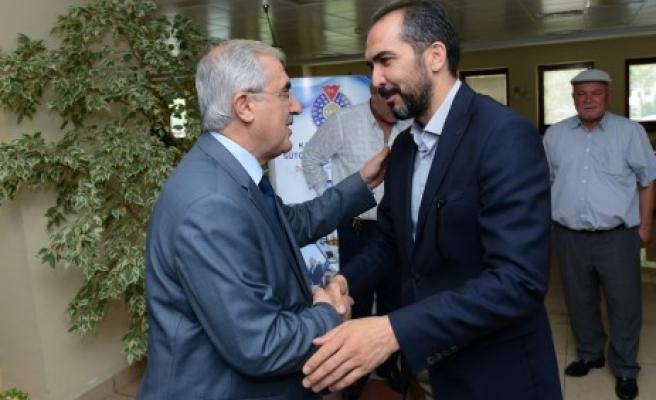 Milletvekili Özdemir, Rektör. Niyazi Can'ı Ziyaret Etti